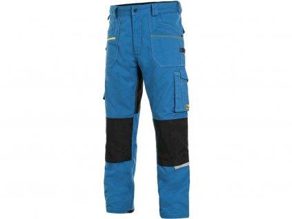 Kalhoty CXS STRETCH, 170-176cm, pánská, středně modrá-černá