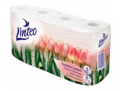 20717 Toaletni papir Linteo 8 ks 3 vrstvy 15 m bily Jaro prostor sl vr M