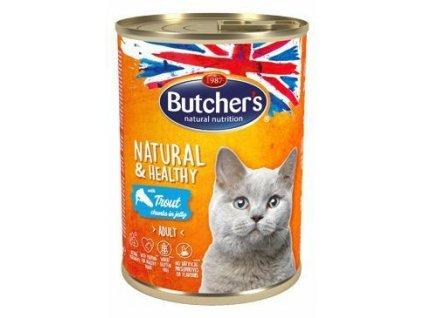Butcher's Cat Natur.&Healthy kousky pstruha v želé 400g