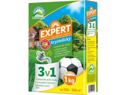 Hnojivo EXPERT krystalické 3v1 na trávník 1kg
