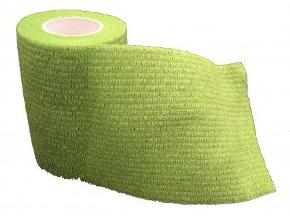 Samodržící obinadlo bez latexu zelené 7.5cmx4.5m
