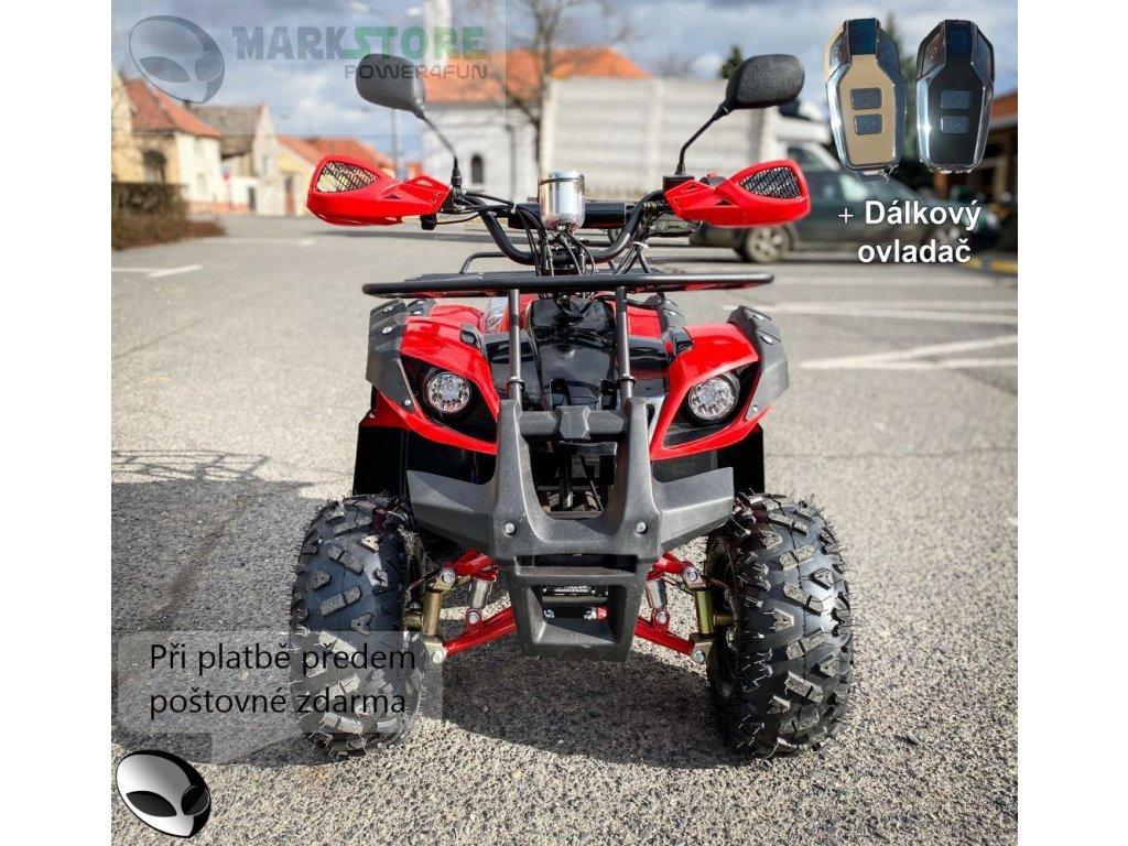 Dětská elektro čtyřkolka ATV Hummer 1000w - červený + DO