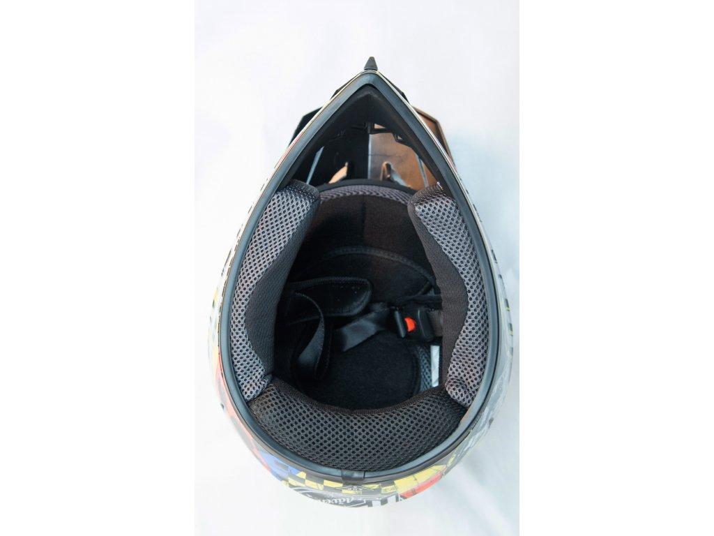 Dětská cross helma svítivě zelená