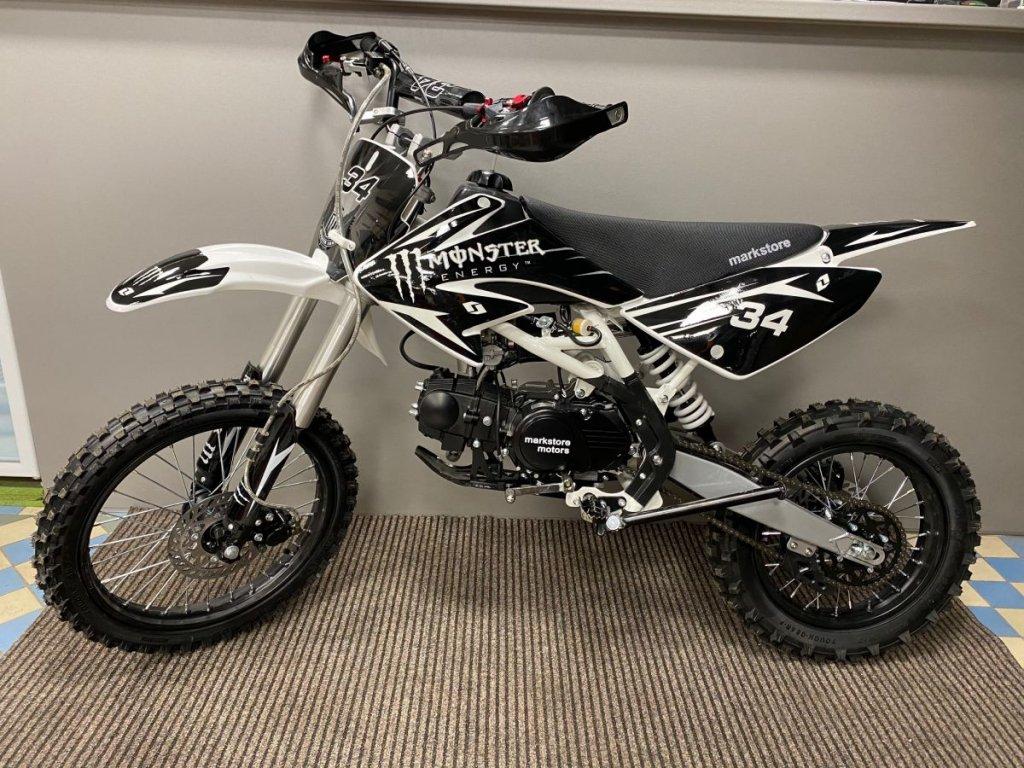 Motocykl Dirt bike Thunder 125cc 17/14 černý