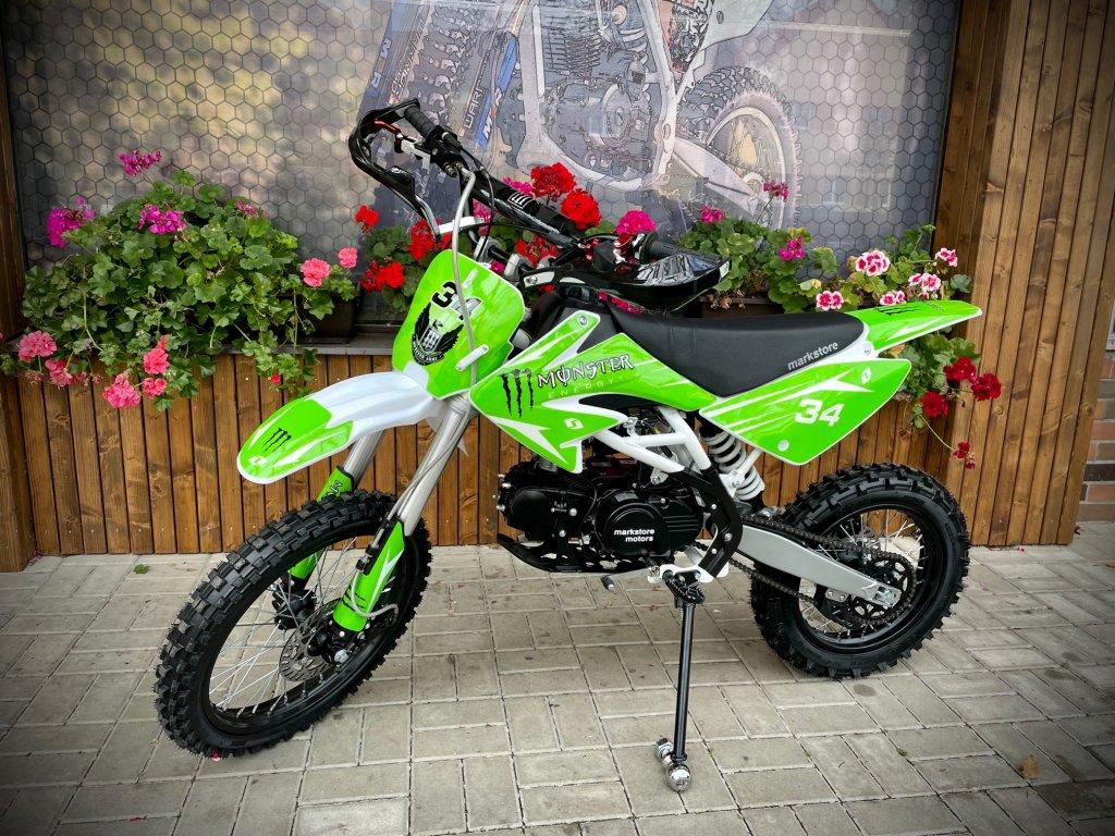 Motocykl Dirt bike Thunder 125cc 17/14 zelený