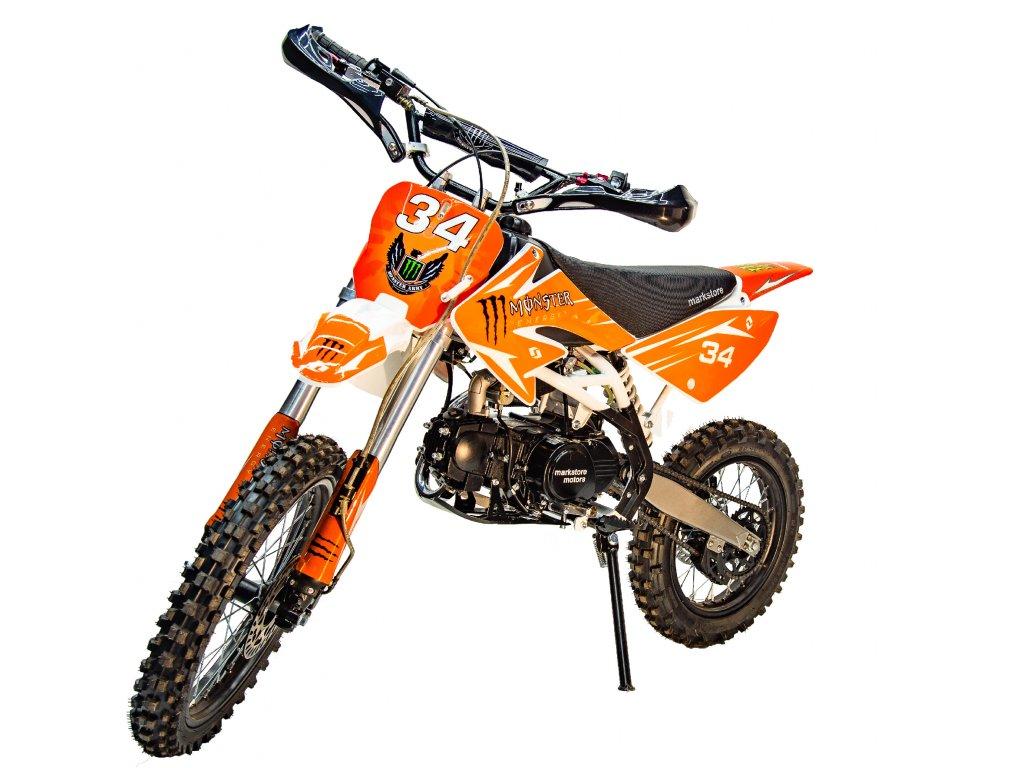 Motocykl Dirt bike Thunder 125cc 17/14 oranžový