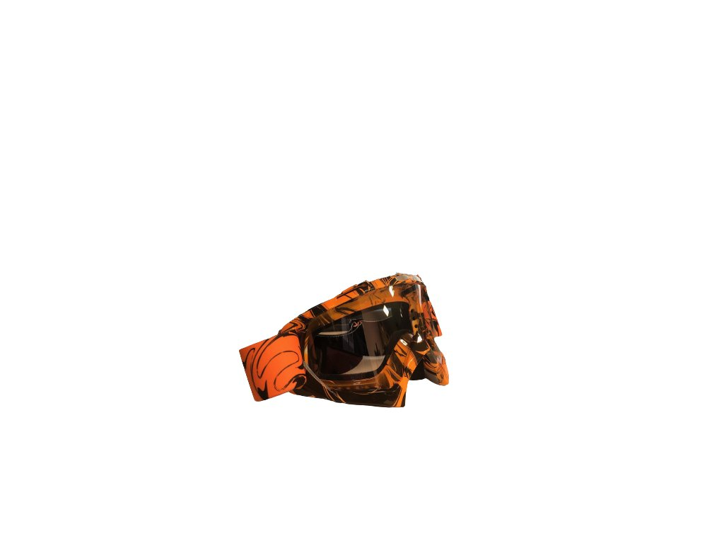 Oranžové Cross/MTB brýle - čiré sklo