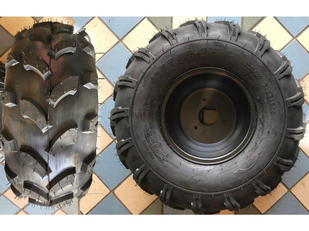 """Zadní pravé pneu i s diskem na quad 8"""" 18x9,5-8 Traktor"""