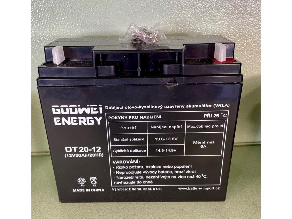 Olověný akumulátor Trakční 12V, 20Ah