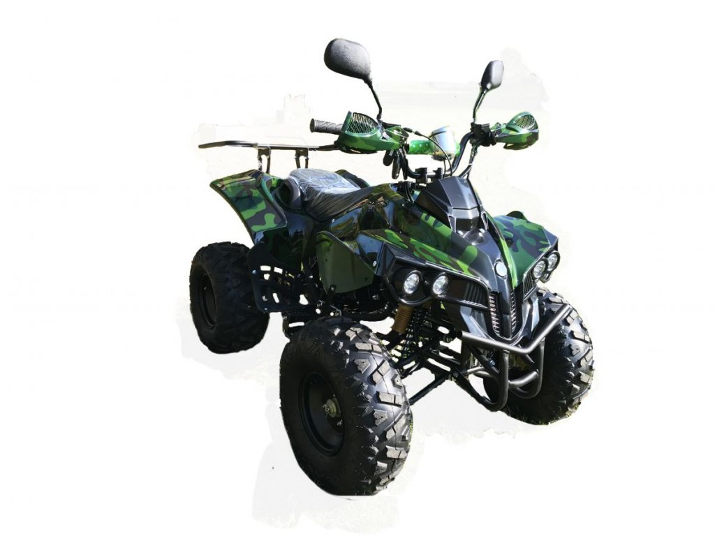 Dětská čtyřkolka Warrior 125cc 3G8 RX - zelený maskáč