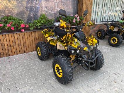 Dětská elektro čtyřkolka Warrior 1500w 60v diferenciál - žlutý maskáč