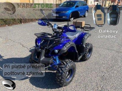 Dětská elektro čtyřkolka ATV Hummer 1000w - modrý + DO