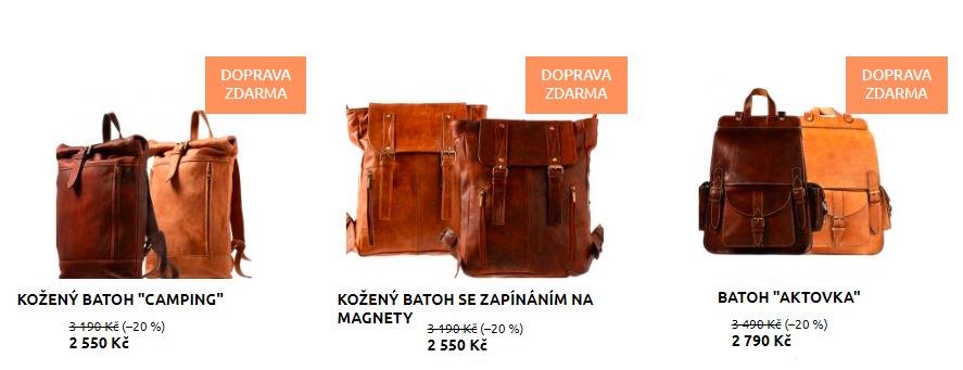 Nové kožené batohy