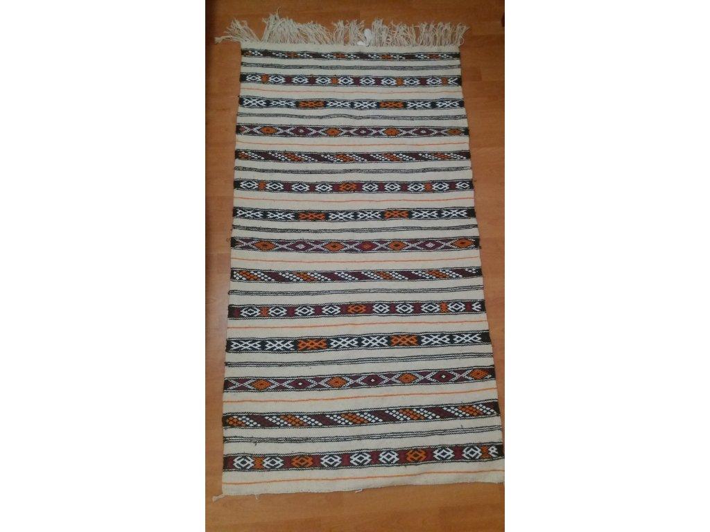 Bilý Marocký Koberec M'rirt / White Berber Carpet M'rirt