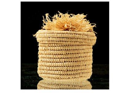 Košík/krabička pletená z palmových listů