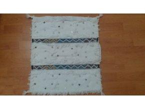 Berber polštář bílý