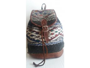 Kožený batoh kelim