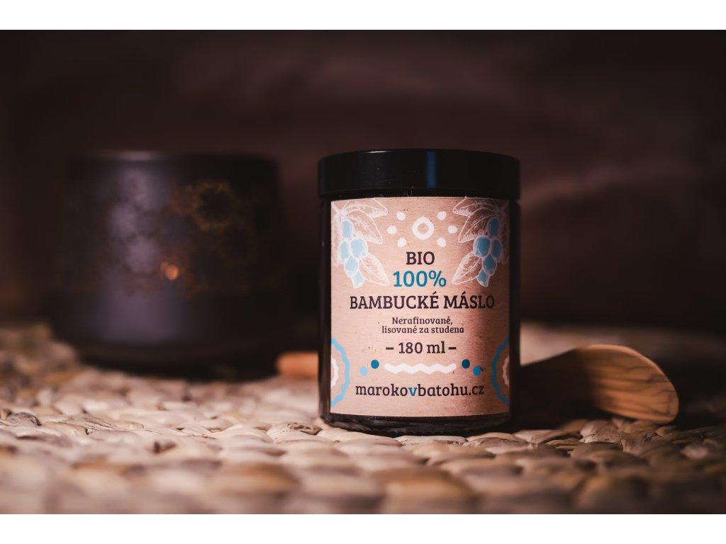 100% Bio raw nerafinované Bambucké máslo 180 ml