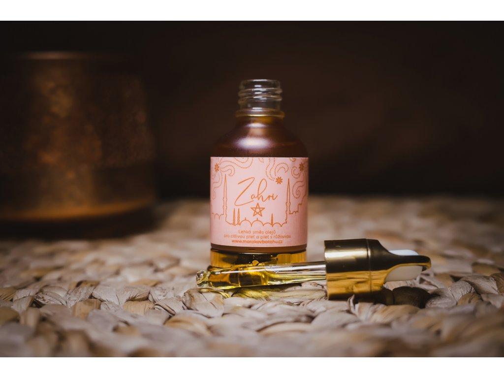 Zahri - lehká směs olejů pro citlivou pleť a pleť s růžovkou