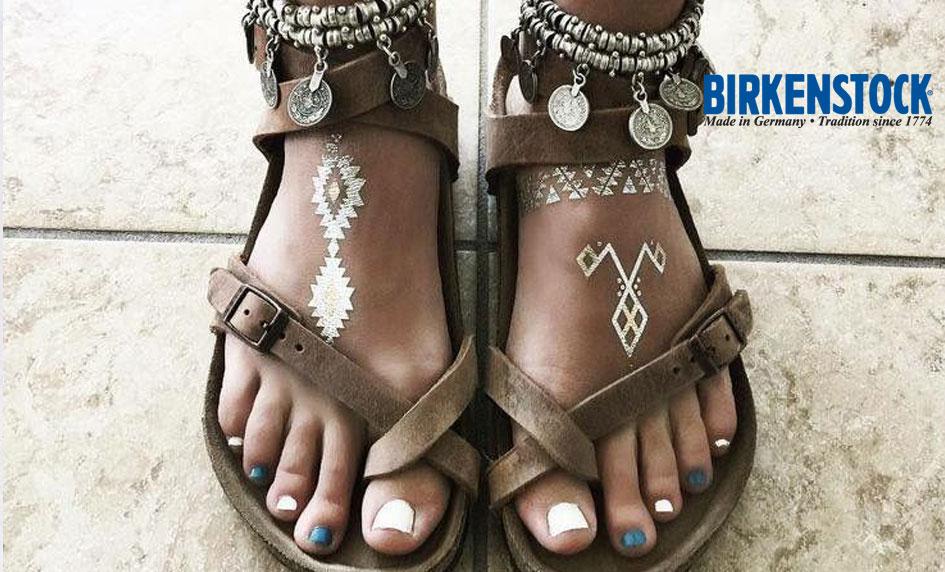 Moderní trendy zdravotní sandály Birkenstock Yara