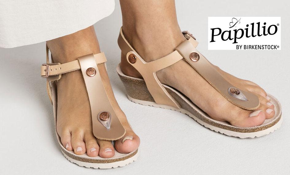 Zdravotní sandály na klínku Papillio by Birkenstock