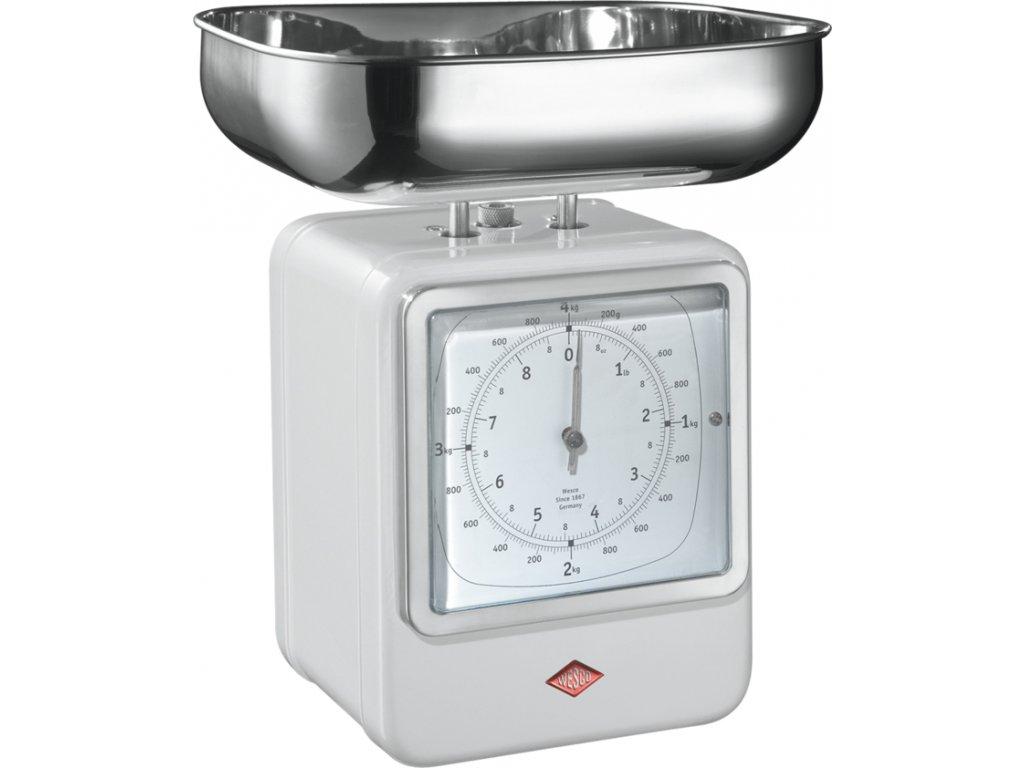 Wesco Kuchyňská váha s hodinami - Bílá
