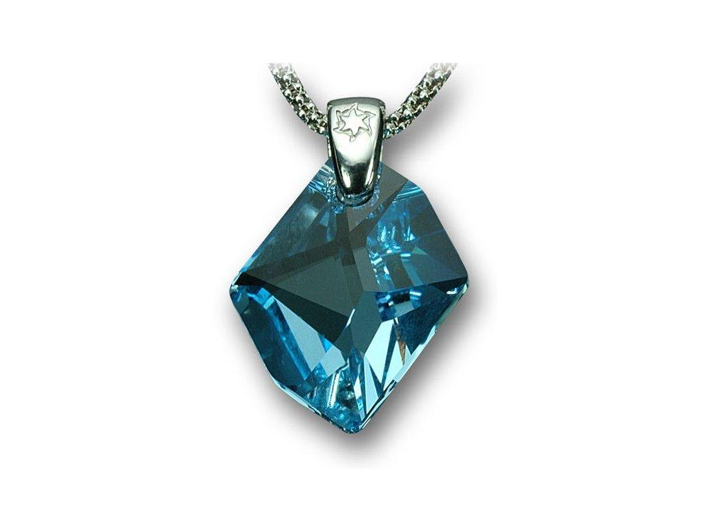 Swarovski Elements Přívěsek na krk - Cosmic 20mm / aquamarine