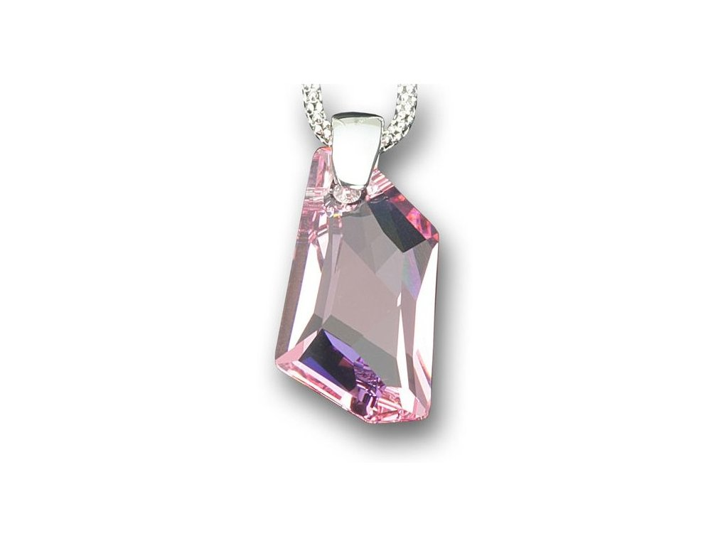 Swarovski Elements Přívěsek na krk - De-Art 24mm / light rose