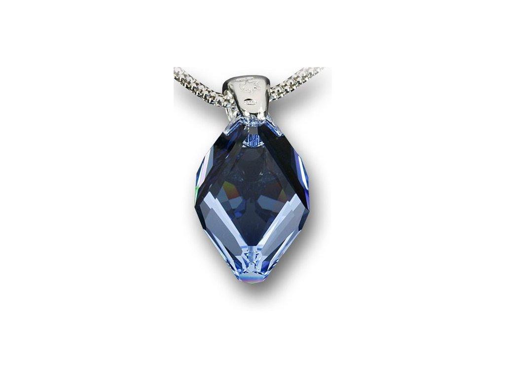 Swarovski Elements Přívěsek na krk - Cubist 22mm / light sapphire