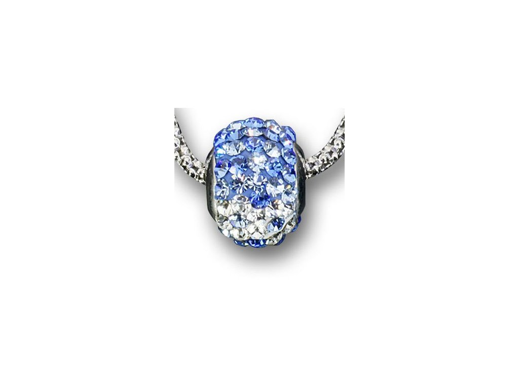 Swarovski Elements Přívěsek na krk - ring parts 10mm / light sapphire+aquamarine