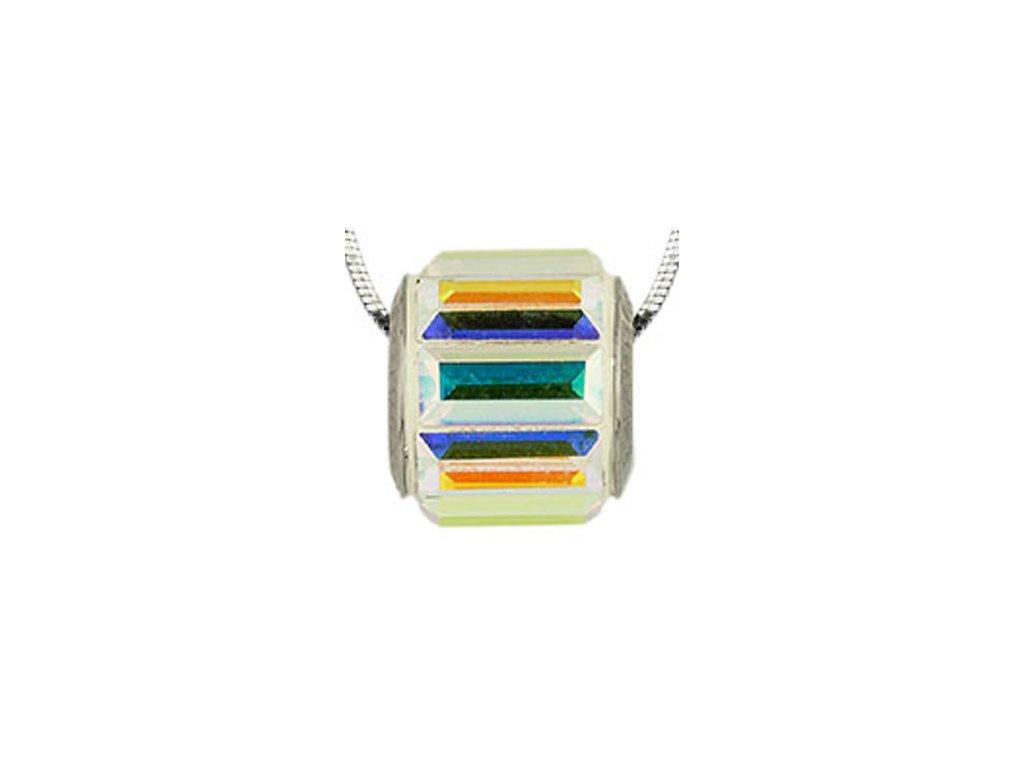 Swarovski Elements Přívěsek na krk s řetízkem Ring - 10mm / crystal ab