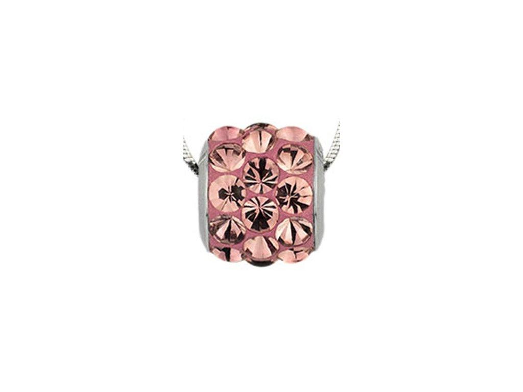 Swarovski Elements Přívěsek na krk s řetízkem BeCharmed Pavé Cabochon - 10,5mm / antique pink