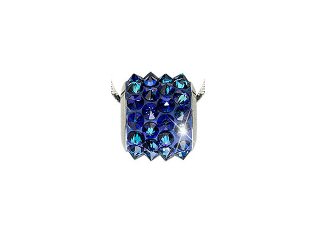 Swarovski Elements Přívěsek na krk BeCharmed Pavé Spikes 11,5mm / bermuda blue