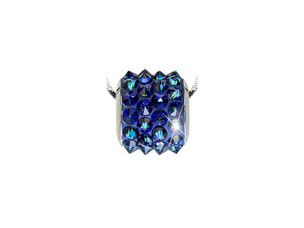 Swarovski Elements Přívěsek na krk BeCharmed Pavé Spikes 11,5mm / bermuda blue
