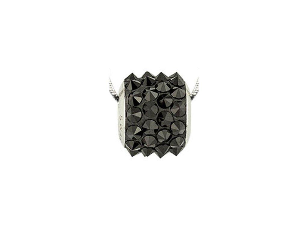 Swarovski Elements Přívěsek na krk BeCharmed Pavé Spikes 11,5mm / jet