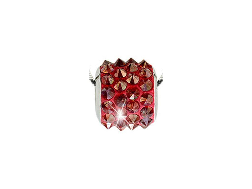 Swarovski Elements Přívěsek na krk BeCharmed Pavé Spikes 11,5mm / red magma