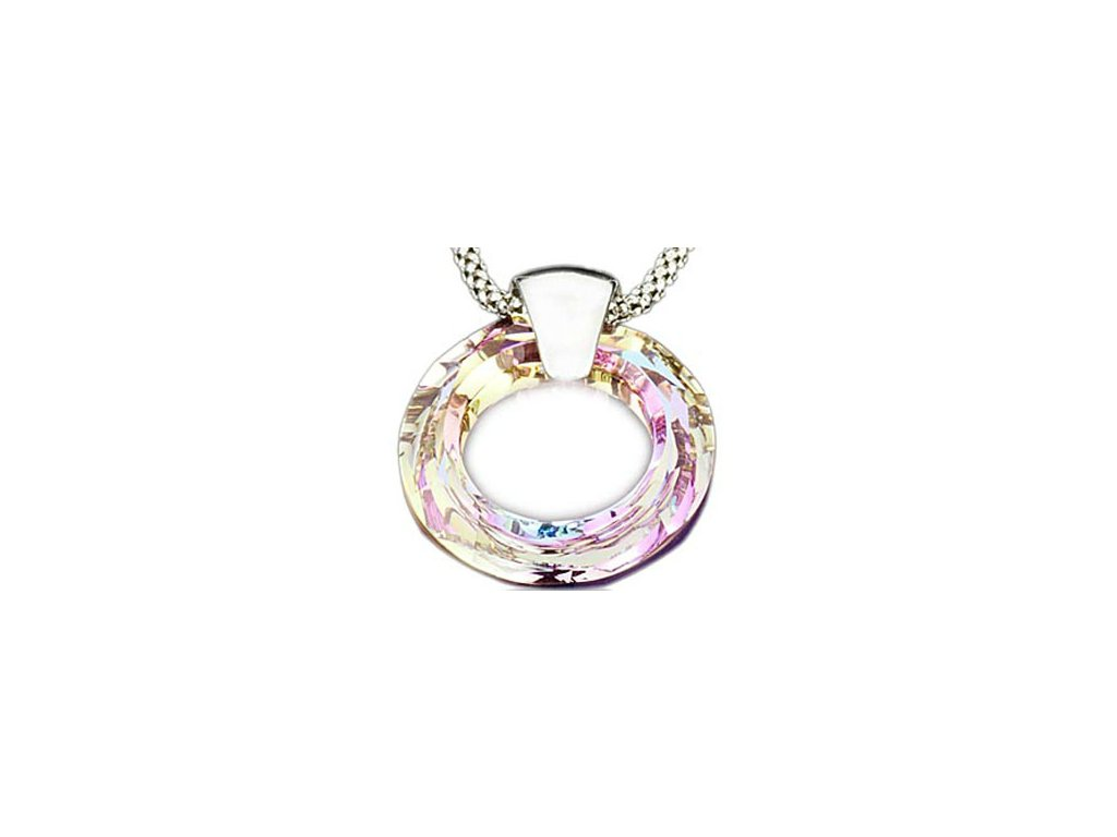 Swarovski Elements Přívěsek na krk Circlet 20mm / vitrail light