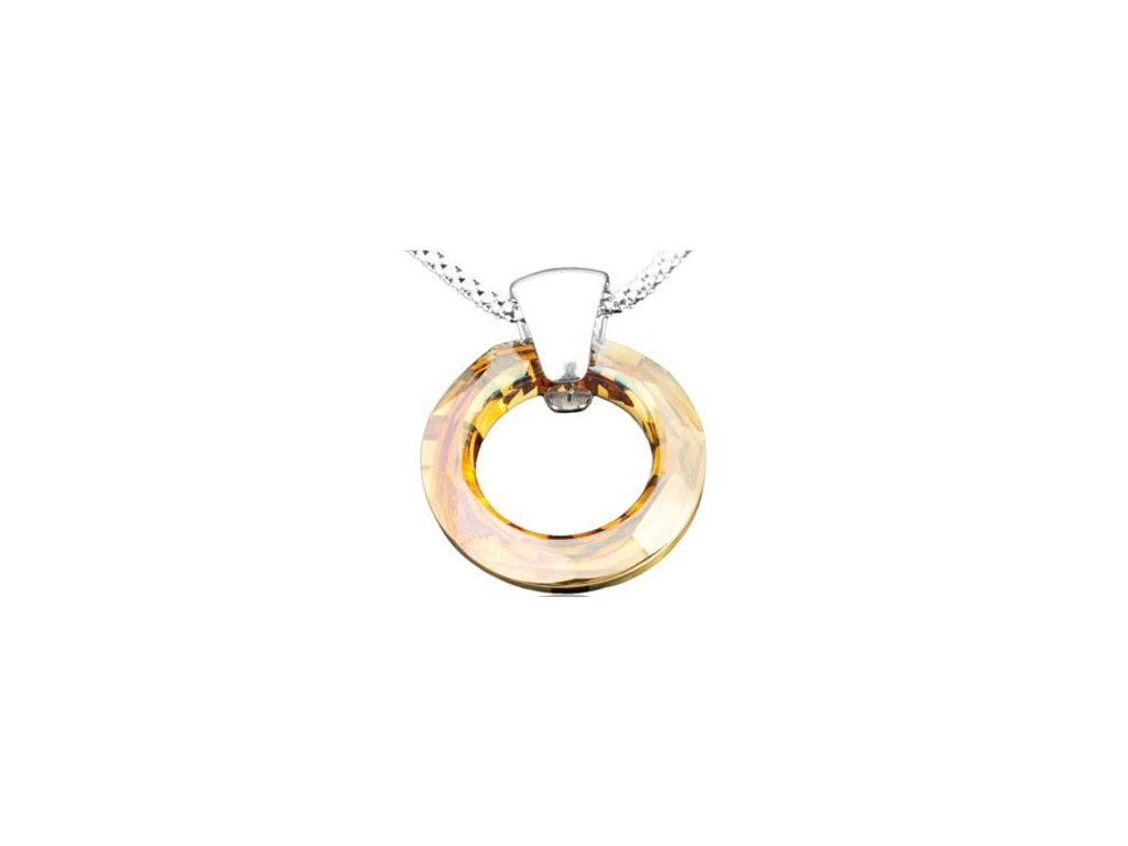 Swarovski Elements Přívěsek na krk Circlet 20mm / crystal copper