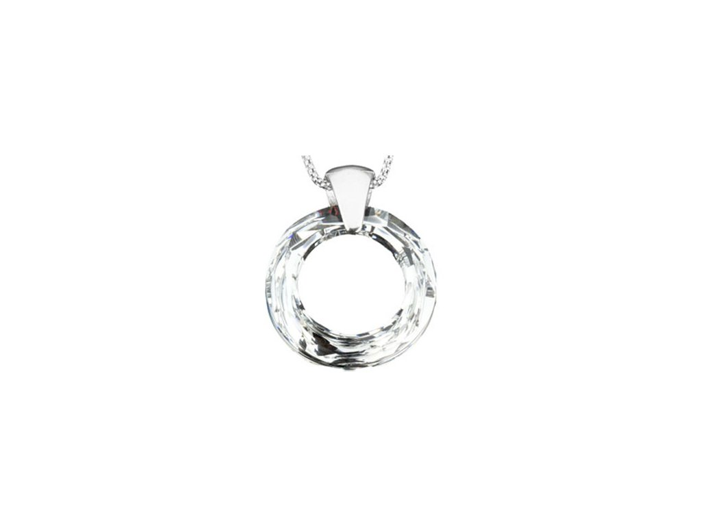Swarovski Elements Přívěsek na krk Circlet 30mm / crystal