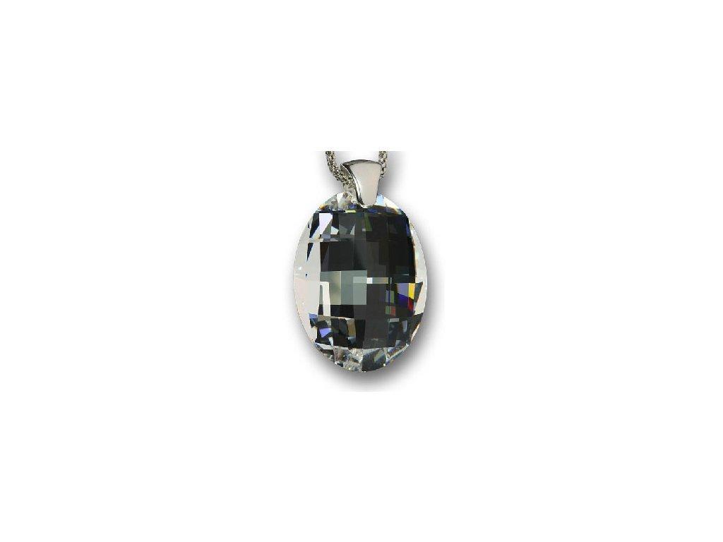 Swarovski Elements Přívěsek na krk - Matrix 32mm / crystal