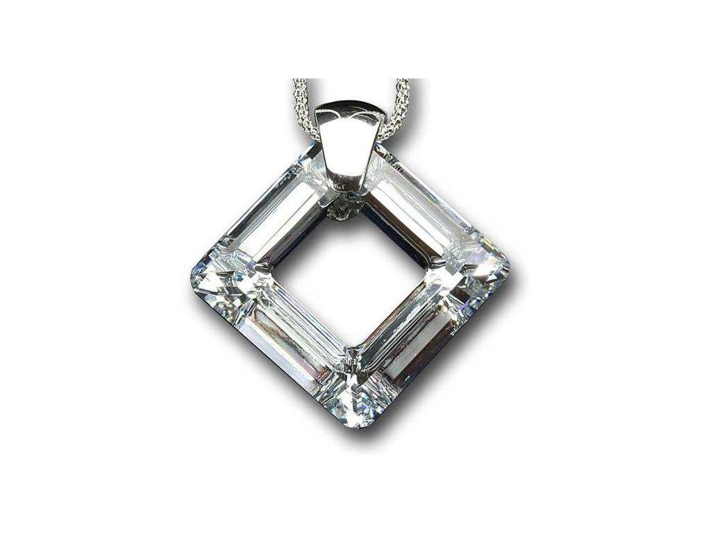 Swarovski crystal Přívěsek na krk - quad 30mm / crystal