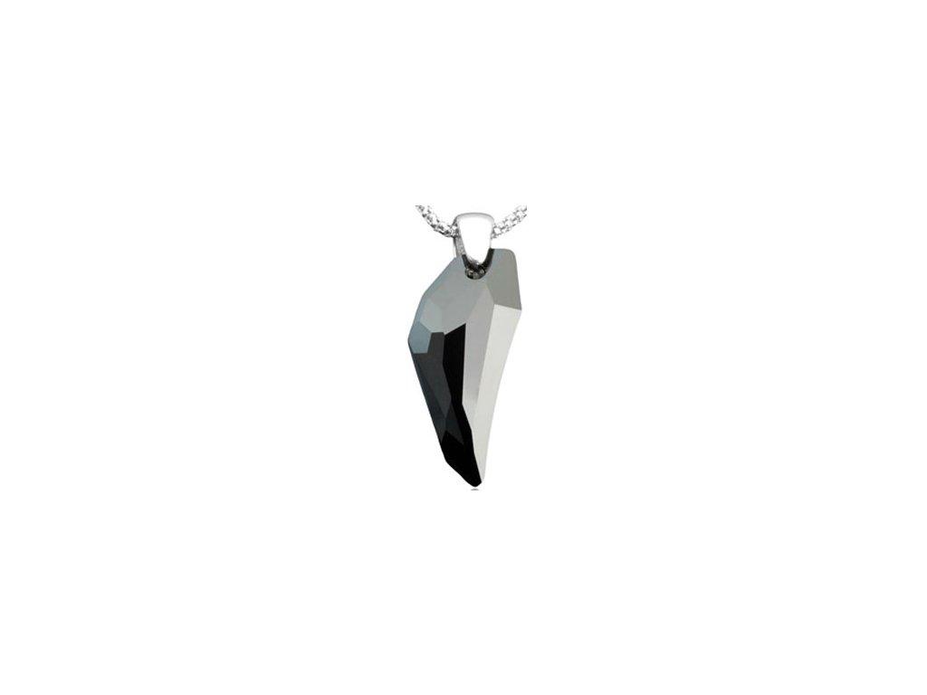 Swarovski Elements Přívěsek na krk s řetízkem - Pegasus 30mm / jet