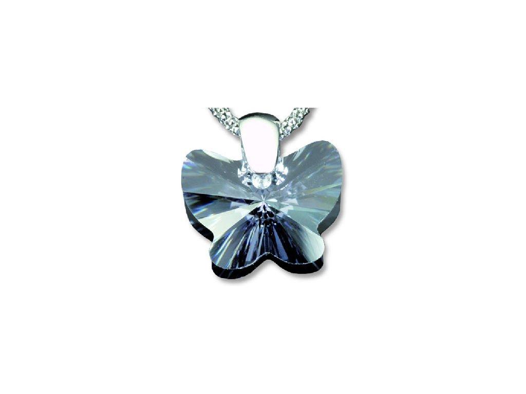 Swarovski Elements Přívěsek na krk - motýl 18mm / violet