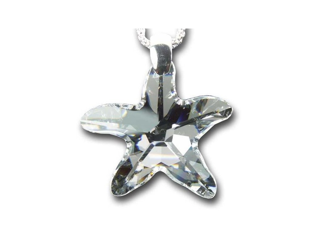 Swarovski Elements Přívěsek na krk - mořská hvězda 28mm / crystal