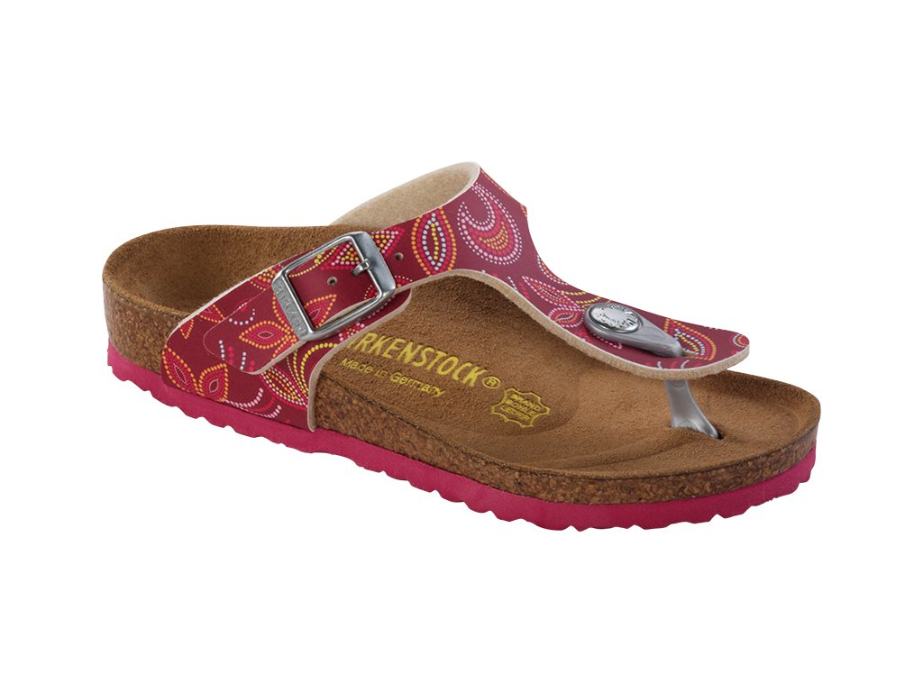 Birkenstock Gizeh - Flower points red