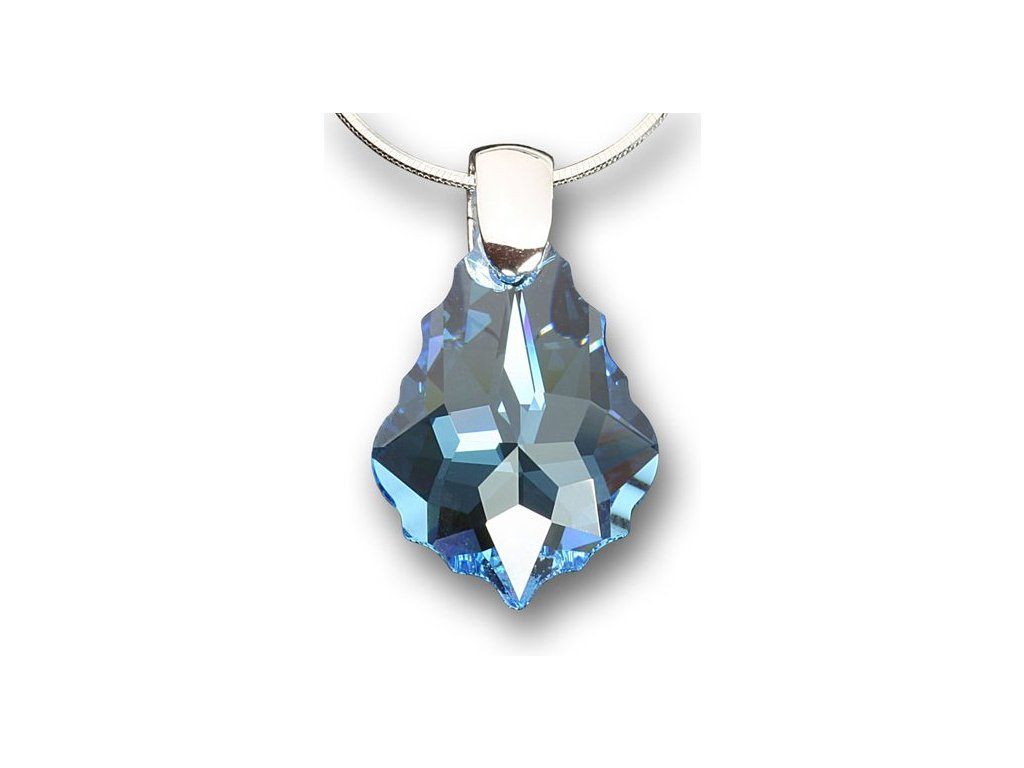 Swarovski Elements Přívěsek na krk - pendle 22mm / aquamarine