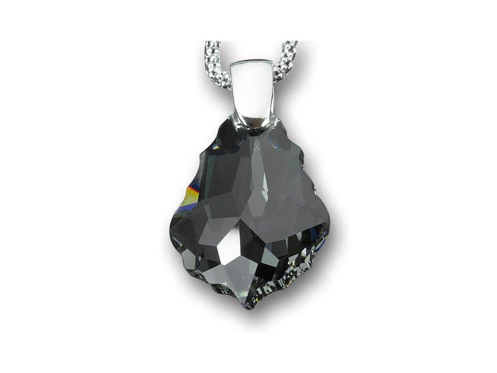 Swarovski Elements Přívěsek na krk - pendle 22mm / crystal black diamond