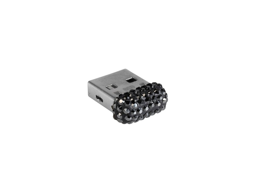Swarovski Elements USB 8GB / jet hematite