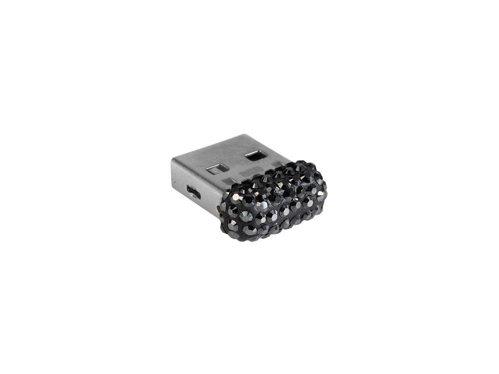 Swarovski Elements USB 8GB / jet hematite