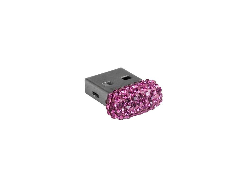 Swarovski Elements USB 8GB / fuchsia